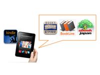 Kindle Fireで紀伊国屋やBookLive!、eBookJapanで買った本は読めるのか?